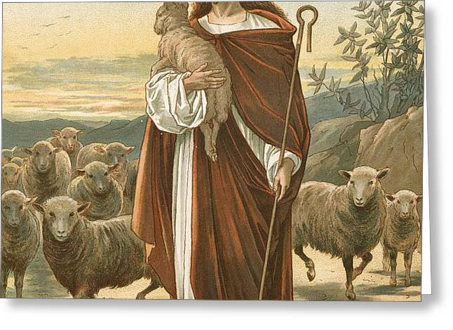 The Good Shepherd Greeting Card by John Lawson