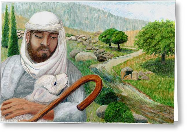 The Good Shepherd Greeting Card by Todd Hatchett