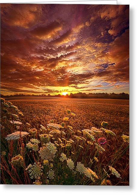 The Goodness Of The Lord Greeting Card by Phil Koch