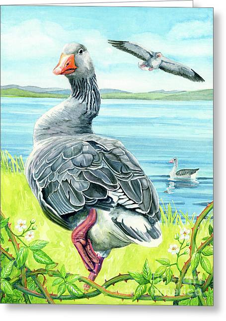 Protector Greeting Cards - The Goose  Greeting Card by Antony Galbraith
