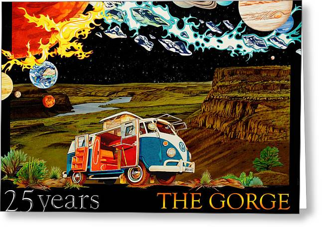 The Gorge-one Sweet World Greeting Card by Joshua Morton