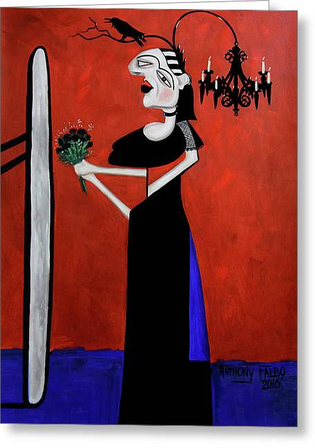 The Gothic Brides Maid Greeting Card by Anthony Falbo