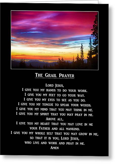Grail Greeting Cards - The Grail Prayer Greeting Card by James BO  Insogna