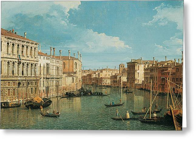 Art Of Building Greeting Cards - The Grand Canal Greeting Card by Canaletto