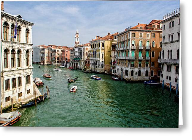 Wonderous Greeting Cards - The Grand Canal Greeting Card by Michelle Sheppard
