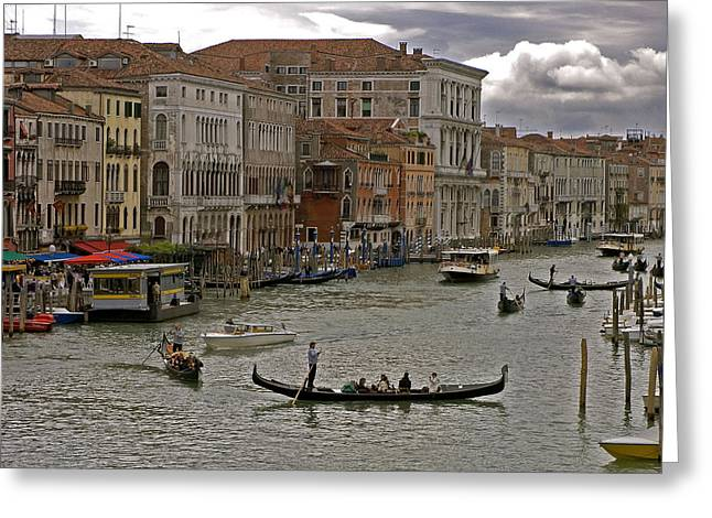 Recently Sold -  - Sea View Greeting Cards - The Grand Canal. Venice Greeting Card by Mike Lester