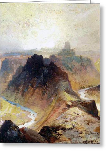 Paper Valley Greeting Cards - The Grand Canyo Greeting Card by Thomas Moran