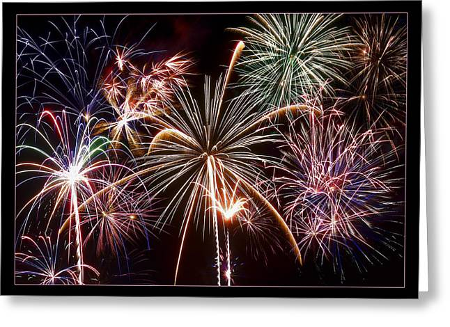 Fireworks Prints Greeting Cards - The Grand Finale Greeting Card by Ricky Barnard