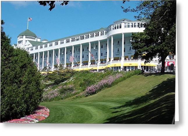 Spencer Meagher Greeting Cards - The Grand Hotel Mackinac Island Greeting Card by Spencer Meagher