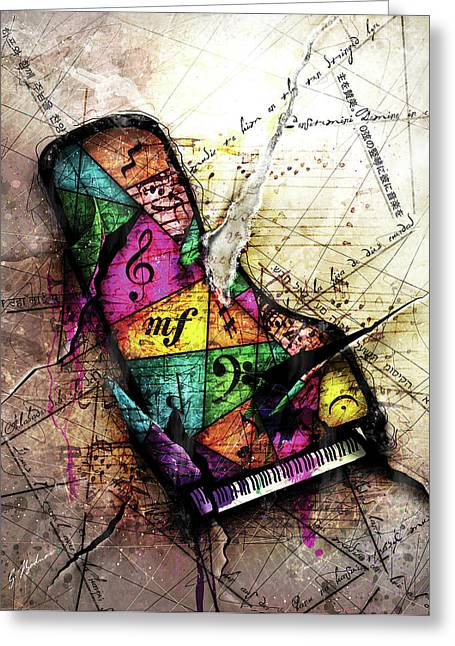 Music Notes Greeting Cards - The Grand Illusion  Greeting Card by Gary Bodnar