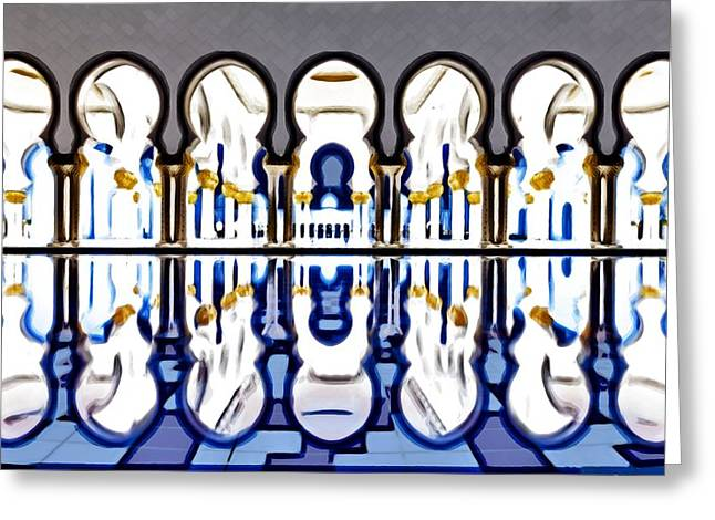 Print On Canvas Greeting Cards - The Grand Mosque Greeting Card by Mario Carini