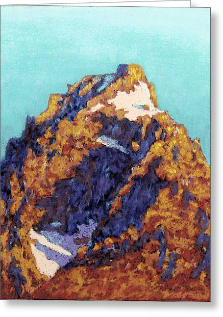 Print On Acrylic Pastels Greeting Cards - The Grand Teton Greeting Card by Abbie Groves