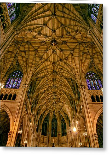 The Grandeur Of St. Patrick's Cathedral Greeting Card by Jessica Jenney