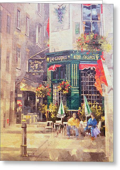 Public House Greeting Cards - The Grapes Greeting Card by Peter Miller