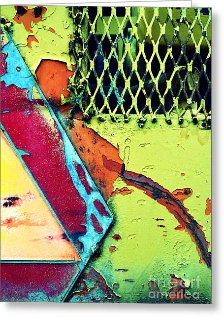 Man Made Abstract Greeting Cards - The Grate Greeting Card by Tara Turner