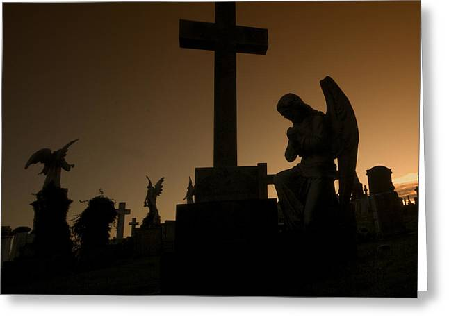 Angel Greeting Cards Greeting Cards - the Graveyard Greeting Card by Angel  Tarantella