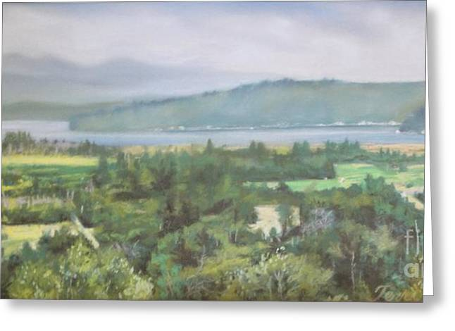 The Hills Pastels Greeting Cards - The Great Bend Greeting Card by Terri Thompson