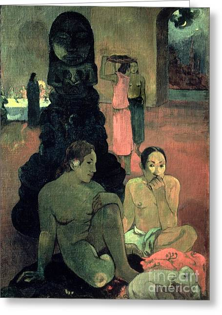 The Great Buddha Greeting Card by Paul Gauguin