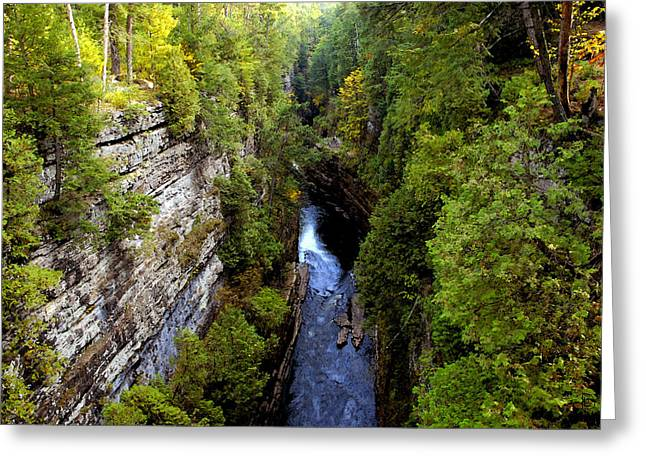 Chasms Greeting Cards - The great chasm Greeting Card by David Lee Thompson