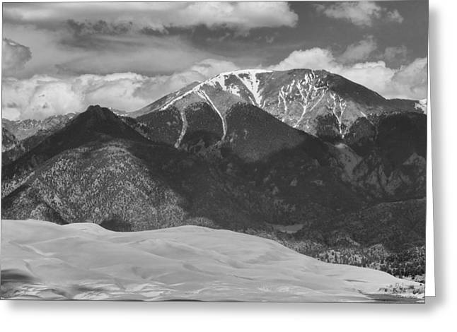 """commercial Photography Art Prints"" Greeting Cards - The Great Colorado Sand Dunes  125 Black and White Greeting Card by James BO  Insogna"