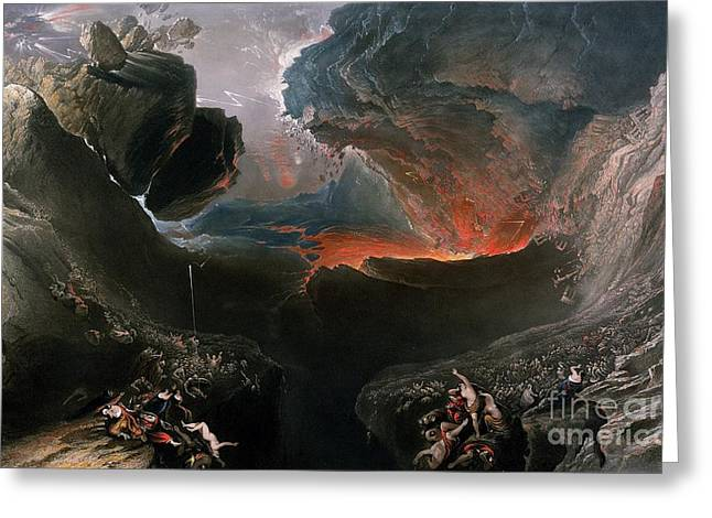 Bible Scene Greeting Cards - The Great Day of His Wrath Greeting Card by Charles Mottram