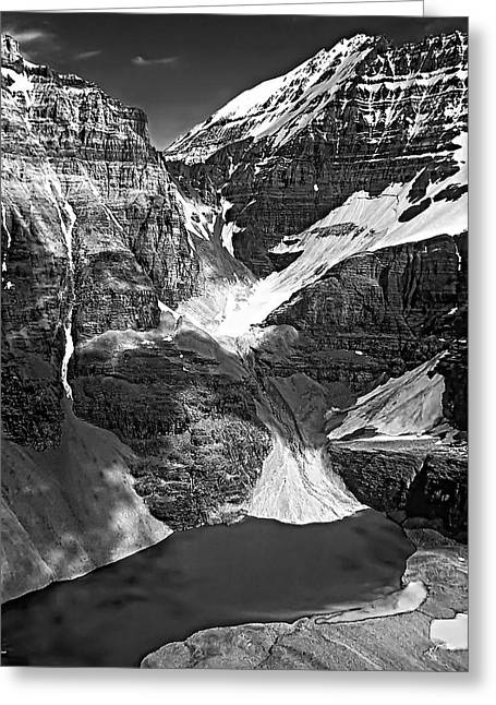 The Great Divide Bw Greeting Card by Steve Harrington