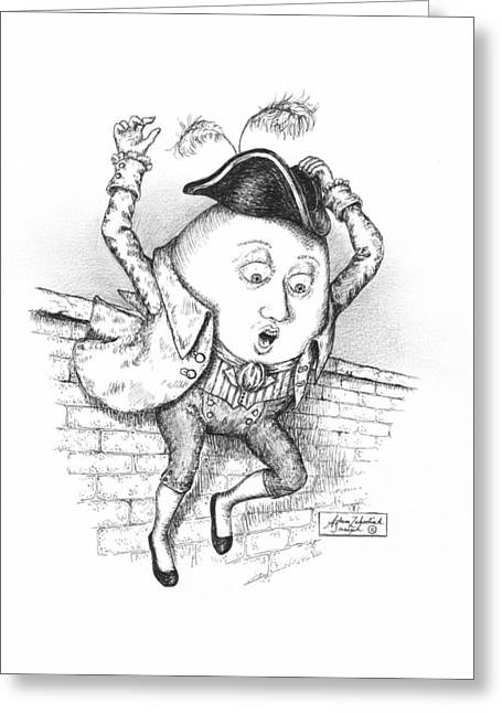 Humpty Dumpty Greeting Cards - The Great Fall Greeting Card by Adam Zebediah Joseph