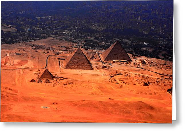 Civilization Greeting Cards - The Great Pyramids Greeting Card by Heidi Pix