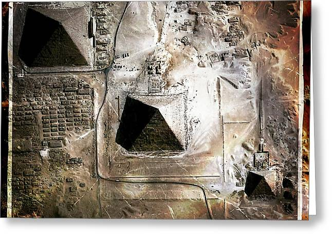 Pharaoh Digital Greeting Cards - The Great Pyramids Greeting Card by Russell Pierce
