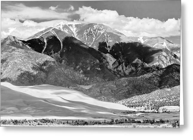 """commercial Photography Art Prints"" Greeting Cards - The Great Sand Dune Valley BW Greeting Card by James BO  Insogna"