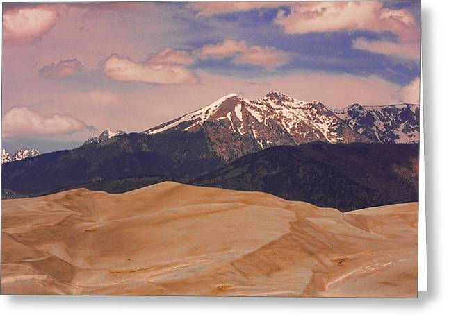 """commercial Photography Art Prints"" Greeting Cards - The Great Sand Dunes and Sangre de Cristo Mountains Greeting Card by James BO  Insogna"