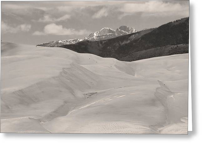 The Great Sand Dunes  BW Sepia Greeting Card by James BO  Insogna