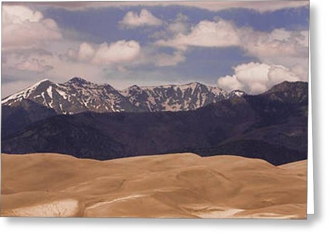"""commercial Photography Art Prints"" Greeting Cards - The great Sand Dunes Panorama 1 Greeting Card by James BO  Insogna"
