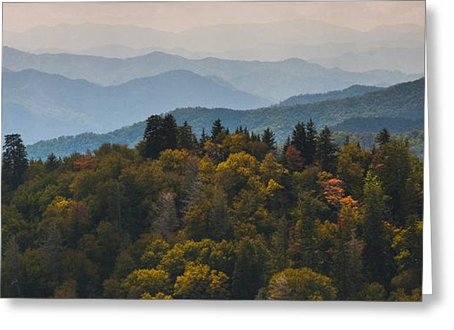 Great Smokey Mountains Greeting Cards - The Great Smokey Mountains Greeting Card by Ryan Heffron