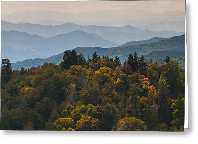 The Great Smokey Mountains Greeting Card by Ryan Heffron