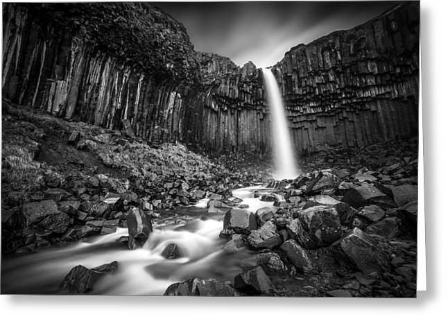 Iceland Greeting Cards - The Great Svartifoss Greeting Card by Janne Kahila