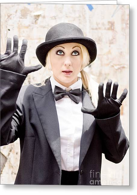 The Great Wall Of Mime Greeting Card by Jorgo Photography - Wall Art Gallery