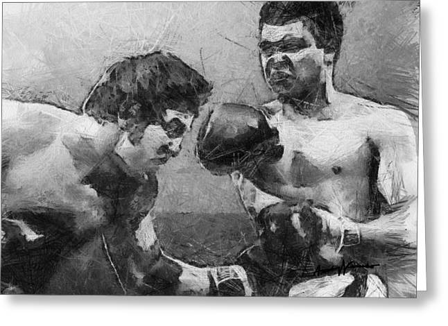 Boxer Digital Greeting Cards - The Greatest Greeting Card by Anthony Caruso