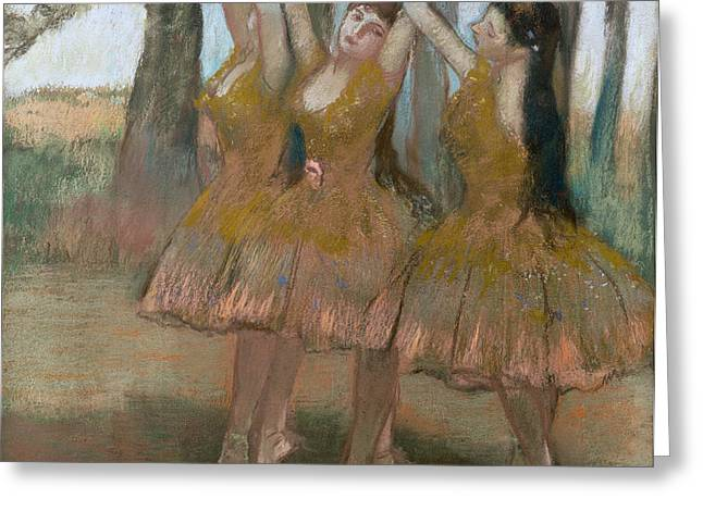 The Greek Dance Greeting Card by Edgar Degas
