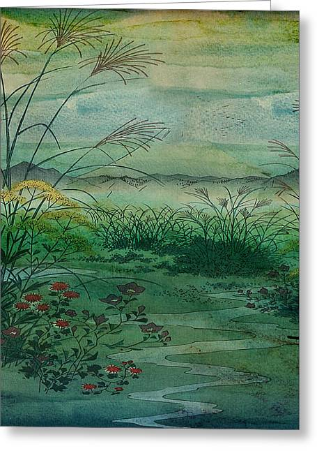 Sarah Vernon Greeting Cards - The Green, Green Grass of Home Greeting Card by Sarah Vernon