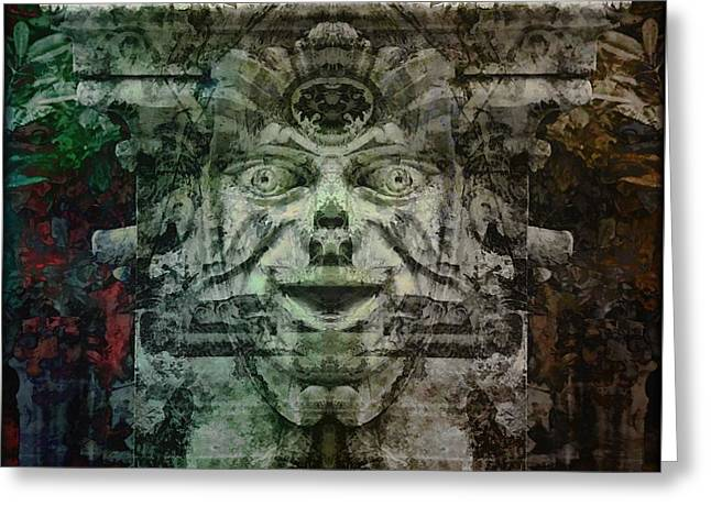 Mystic Art Greeting Cards - The Green Man  Greeting Card by Daniel  Arrhakis