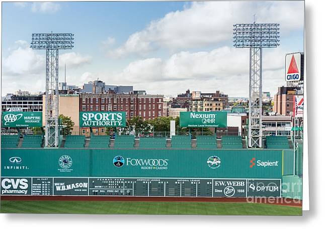 Boston Red Sox Greeting Cards - The Green Monster of Fenway Park Greeting Card by Dawna  Moore Photography