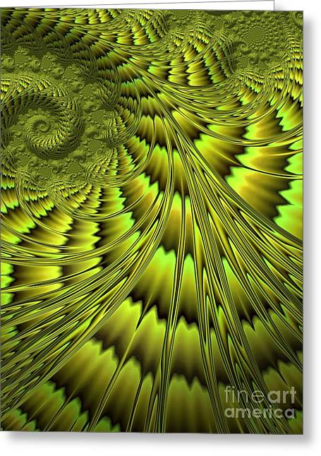 The Green Shell Greeting Card by John Edwards