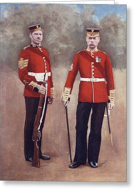Division Drawings Greeting Cards - The Grenadier Guards In Uniform Of The Greeting Card by Vintage Design Pics