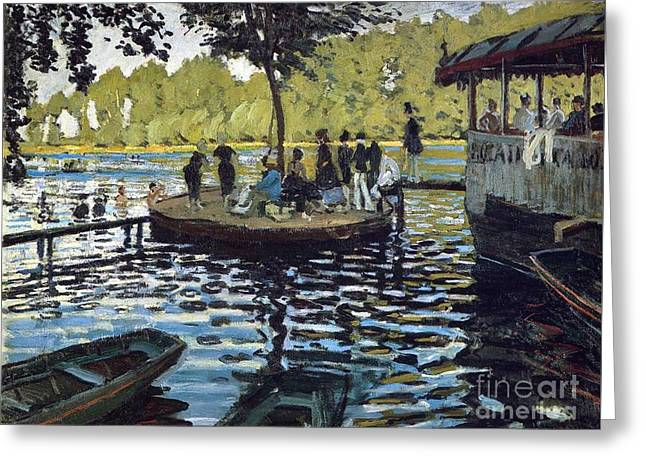 Grenouillere Greeting Cards - The Grenouillere Greeting Card by Monet