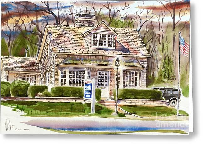 The Greystone Inn In Brigadoon Greeting Card by Kip DeVore