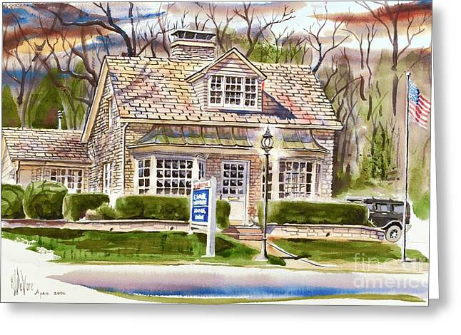 Main Street Greeting Cards - The Greystone Inn in Brigadoon Greeting Card by Kip DeVore