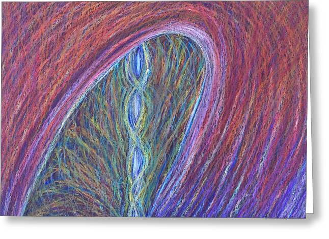 Burning Pastels Greeting Cards - The Grief and Rift of Separation in Burning at the Stake Greeting Card by Jamie Rogers