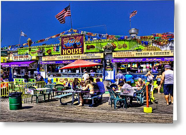 Seaside Digital Greeting Cards - The Grill House Greeting Card by Chris Lord