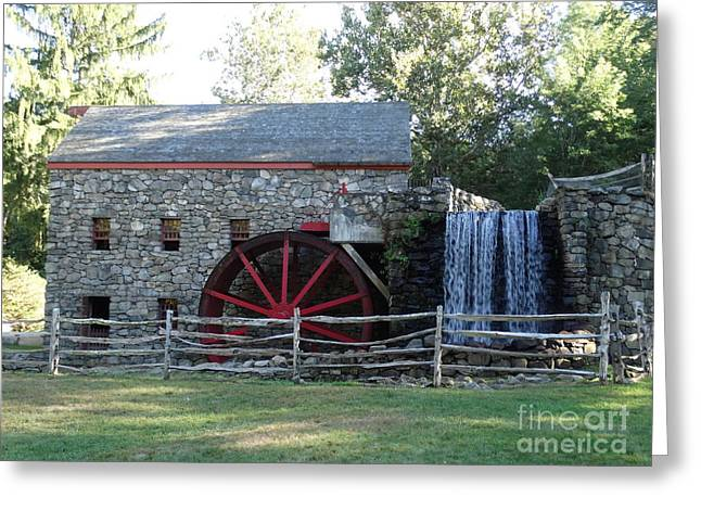 Grist Mill Greeting Cards - The Grist Mill 2 Greeting Card by Gina Sullivan